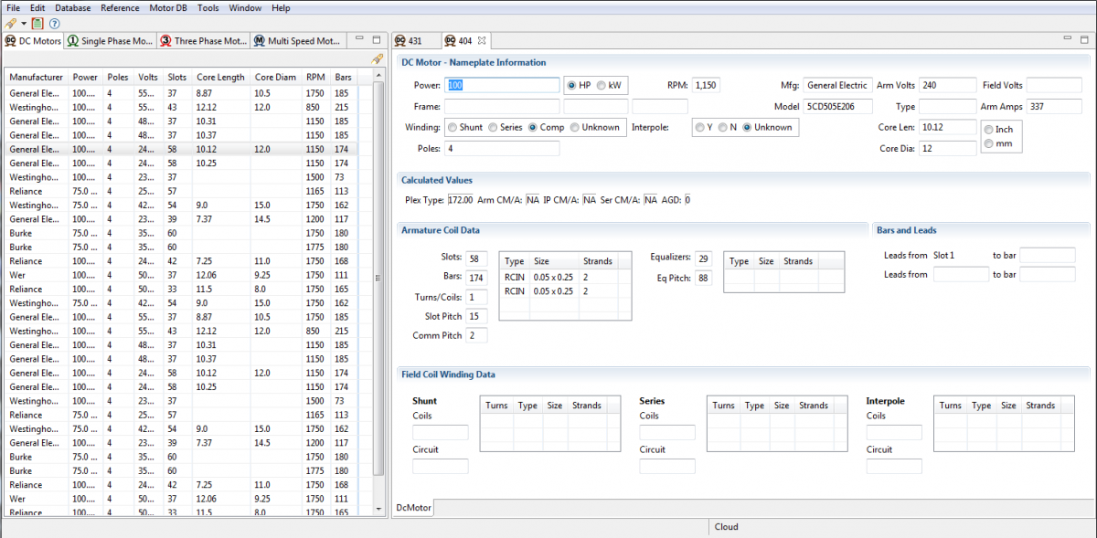 Motor Winding Database