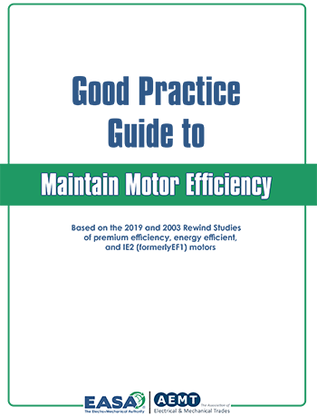 Good Practice Guide to Maintain Motor Efficiency